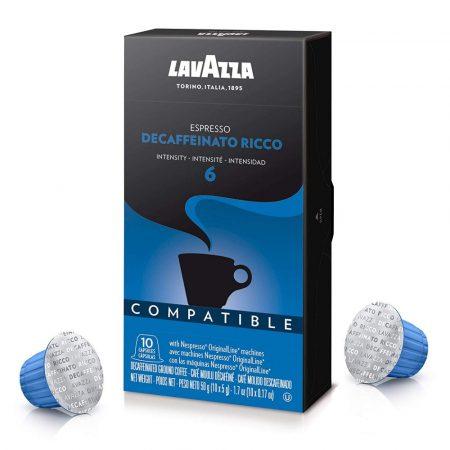 Lavazza Ricco Koffeinmentes kávékapszula Nespresso gépekkel kompatibilis