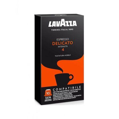 Lavazza Delicato kávékapszula, Nespresso gépekkel kompatibilis.