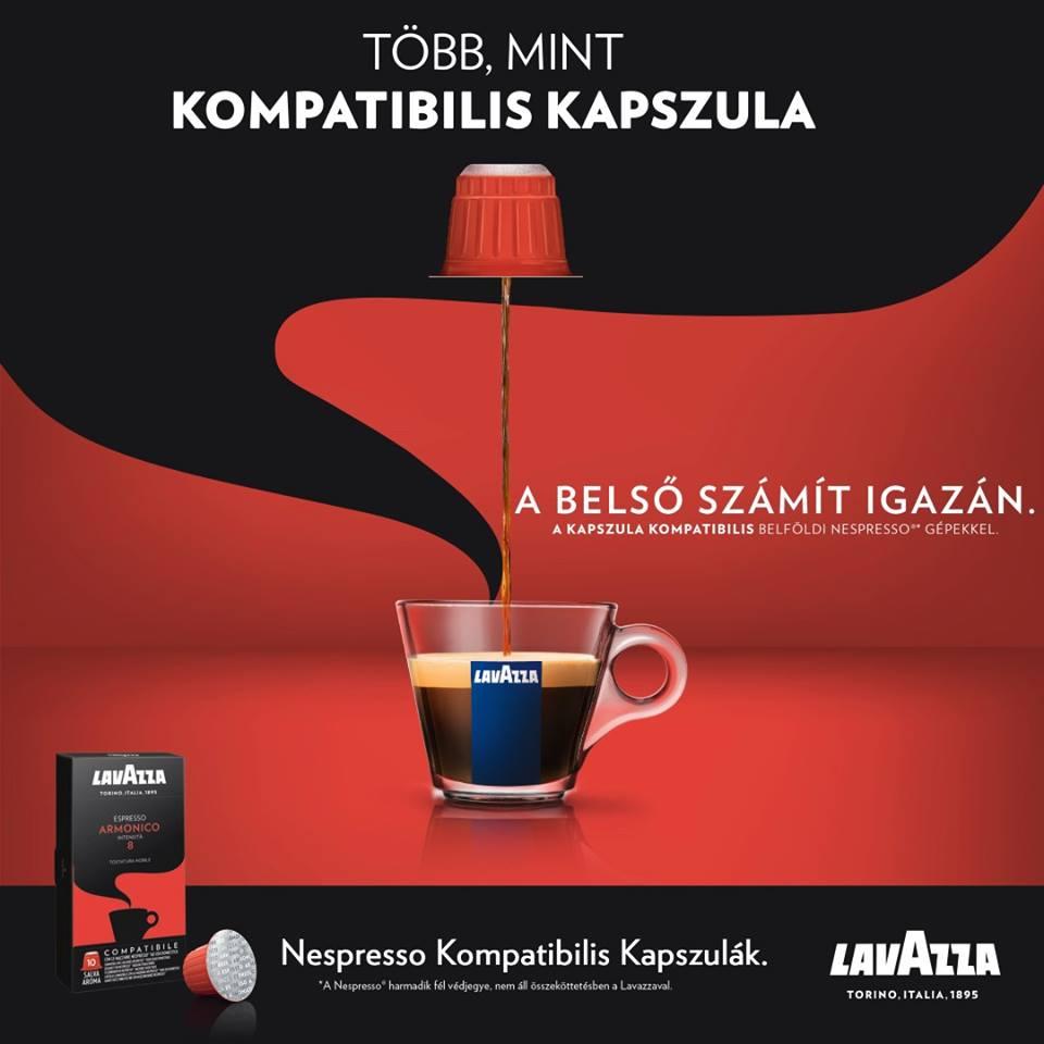 Lavazza Armonico harmónia és édesség a testes és teljes ízvilágú kávéért.